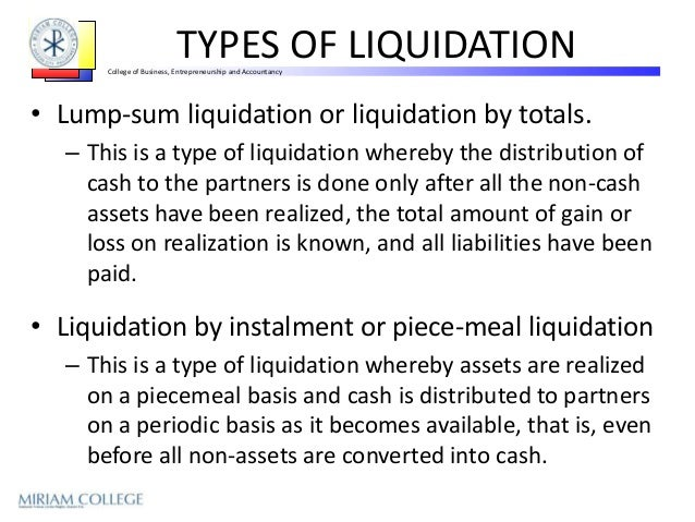 Liquidating equity definition law