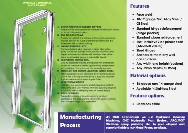 Featured Product   Frames  6 MCR Door Frames Brochure. Painting Steel Door Frames. Home Design Ideas