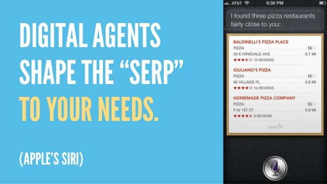 "DIGITAL AGENTS SHAPE THE ""SERP"" TO YOUR NEEDS. (APPLE'S SIRI)"