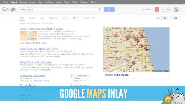 GOOGLE MAPS INLAY