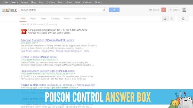 POISON CONTROL ANSWER BOX