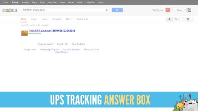 UPS TRACKING ANSWER BOX