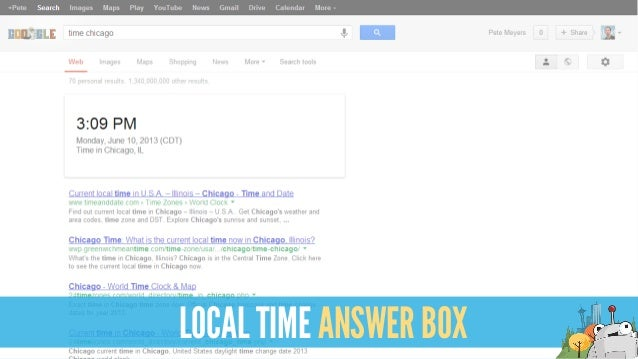 LOCAL TIME ANSWER BOX