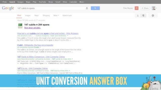 UNIT CONVERSION ANSWER BOX