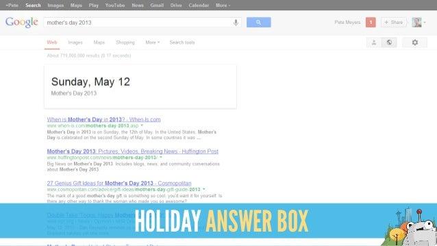 HOLIDAY ANSWER BOX