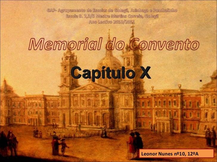 Capítulo X Leonor Nunes nº10, 12ºA