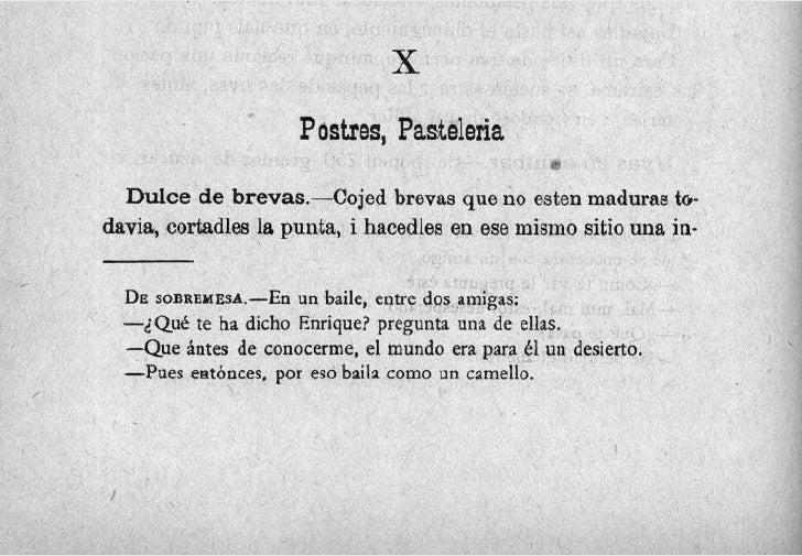 x                      Postres, Pasteleria                                                  F)     Dulce de brevas.-Cojed ...