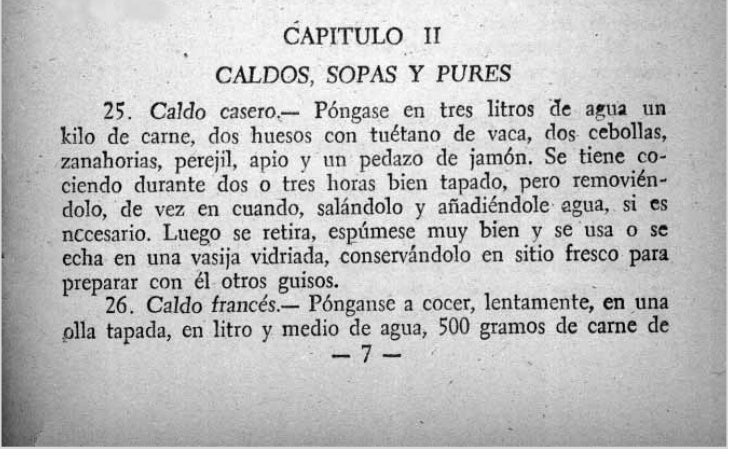 -                       CAPITULO 11                  CALDOS, SOPAS Y P           Caldo casero- Póngase en tres litros iie ...