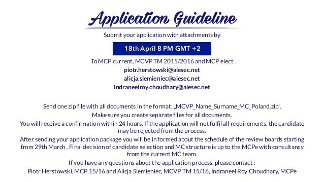 send a letter aiesec in poland mc 16 17 third application booklet 1617