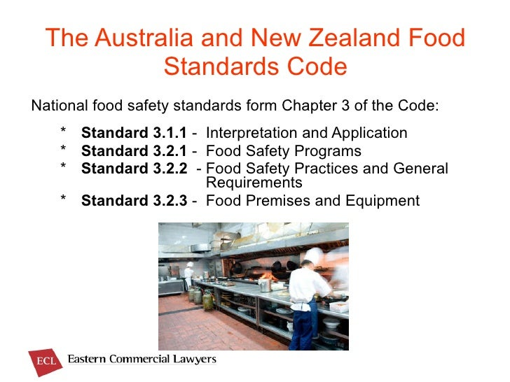 The Australian New Zealand Food Standards Code