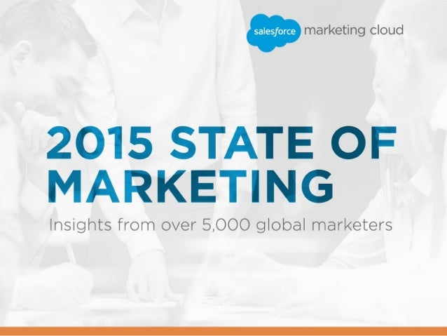 2 / 2015 STATE OF MARKETING In the fall of 2014, we surveyed thousands of marketers for our second annual State of Marketi...
