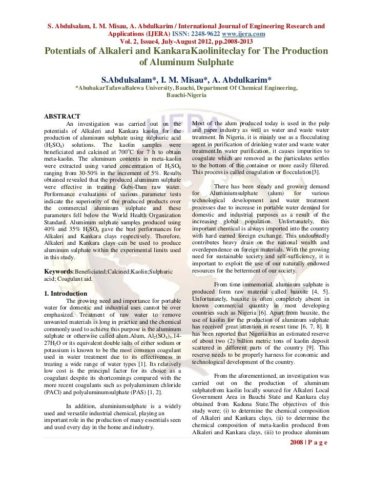 S. Abdulsalam, I. M. Misau, A. Abdulkarim / International Journal of Engineering Research and                      Applica...