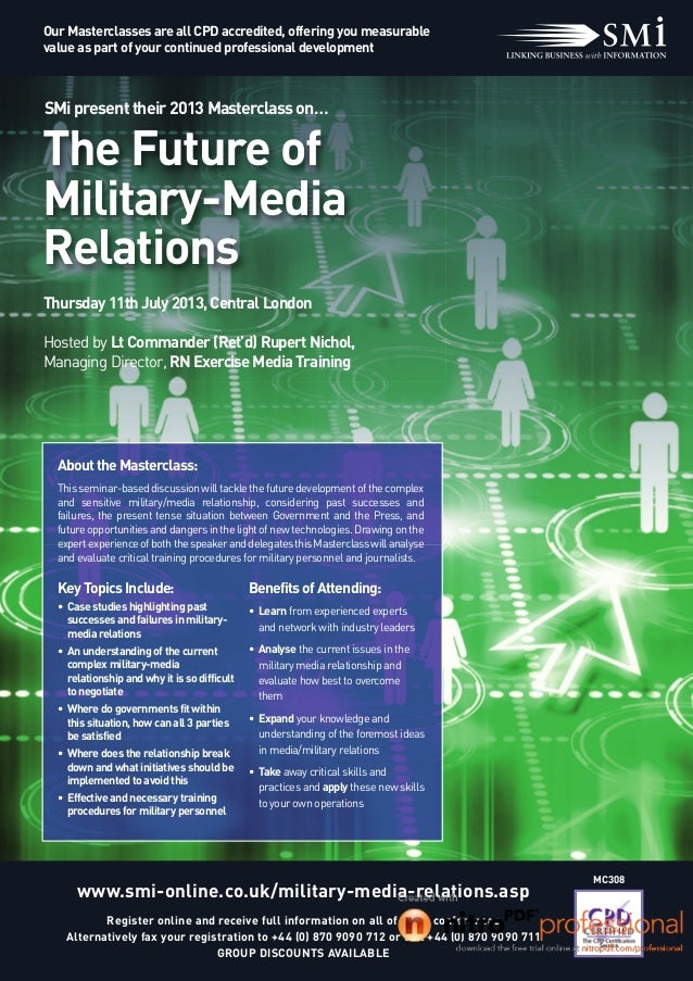 the future military media relationship