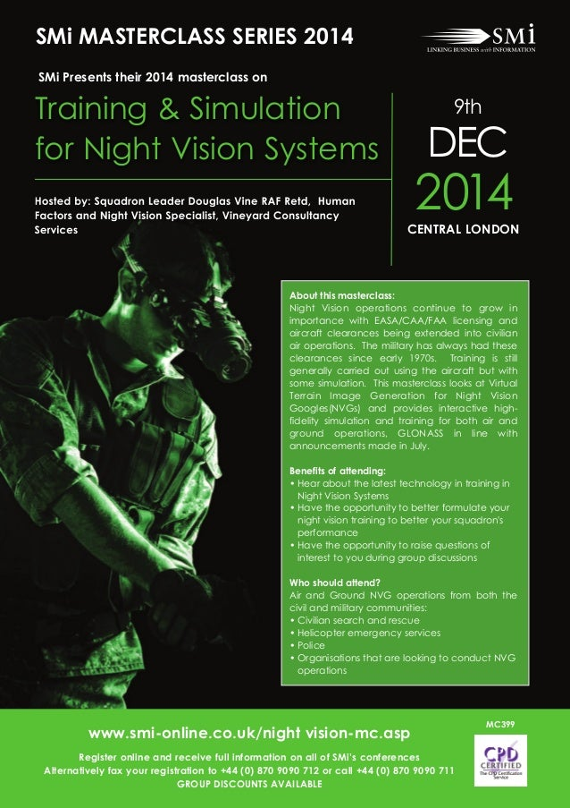 About this masterclass: Night Vision operations continue to grow in importance with EASA/CAA/FAA licensing and aircraft cl...