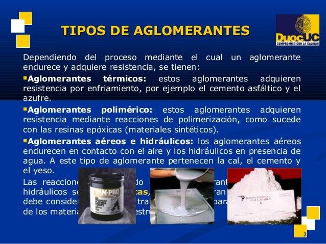 Materiales aglomerantes - Tipos de materiales de construccion ...