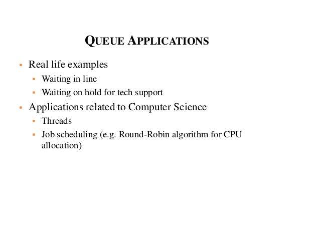queue applications Mca ii dfs u-3 linklist,stack,queue