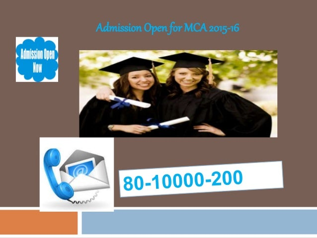 Admission Open for MCA2015-16