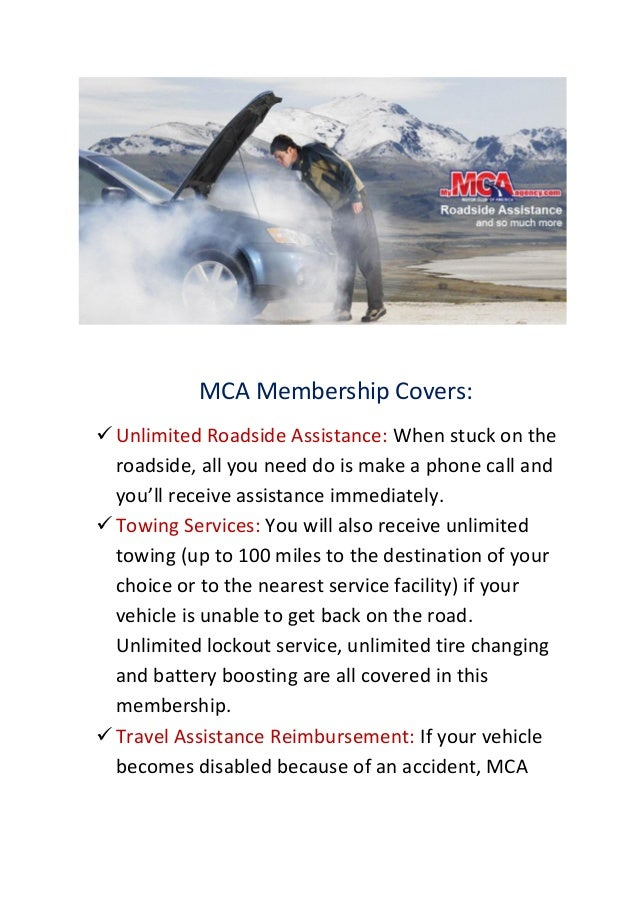 MCA: Earn $80 Per Referral Sign Up To Our Roadside Services