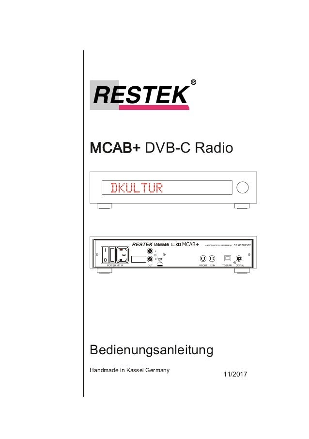 MCAB+DVBCRadio Bedienungsanleitung HandmadeinKasselGermany 11/2017