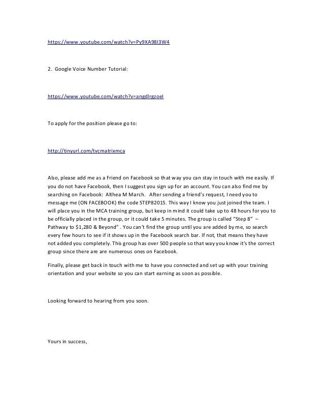 Mca Craigslist Ad Reply Letter 02 18 2015