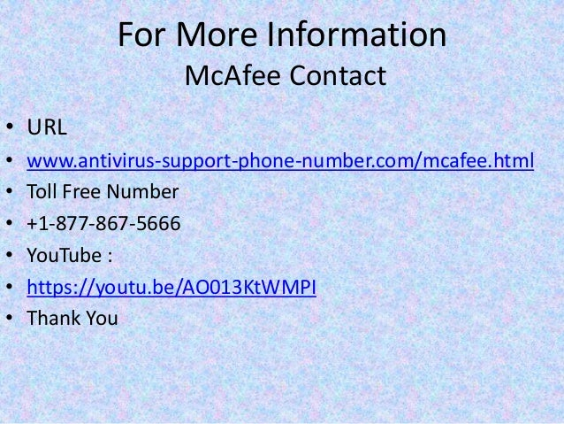 Mcafee Support Phone Number 1 877 867 5666 For Mcafee User