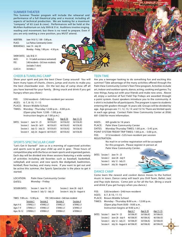 McAllen Parks & Recreation 2010 Summer Brochure