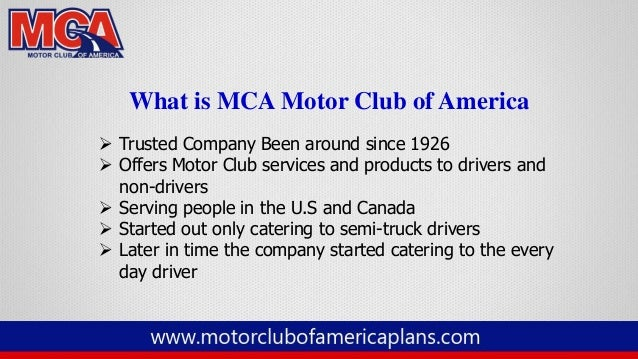 What is mca for Mca motor club of america scam