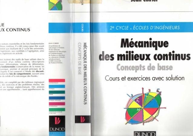 Mécanique des milieux continus (concepts de base)