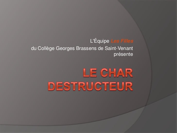 LÉquipe Les Fillesdu Collège Georges Brassens de Saint-Venant                                   présente