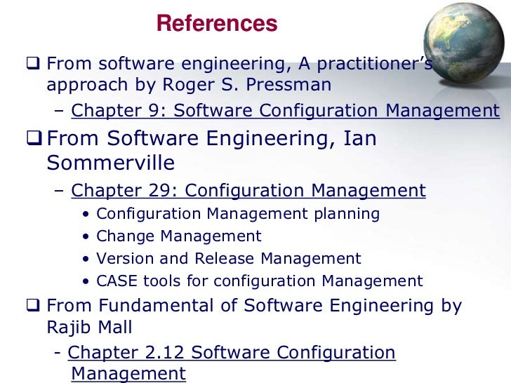 software configuration management thesis 1 f53 software configuration management objective: software configuration is defined, maintained, and controlled until the software is retired.