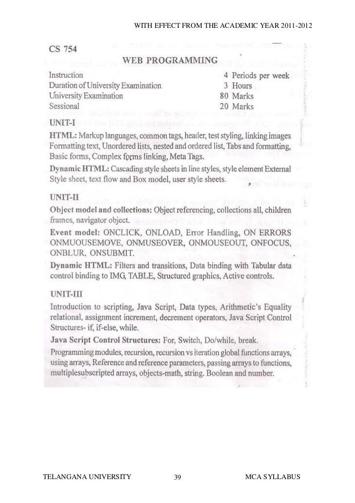 IGNOU MCA Syllabus 2018 (1st-6th Semester) New Structure/Exam Syllabus PDF