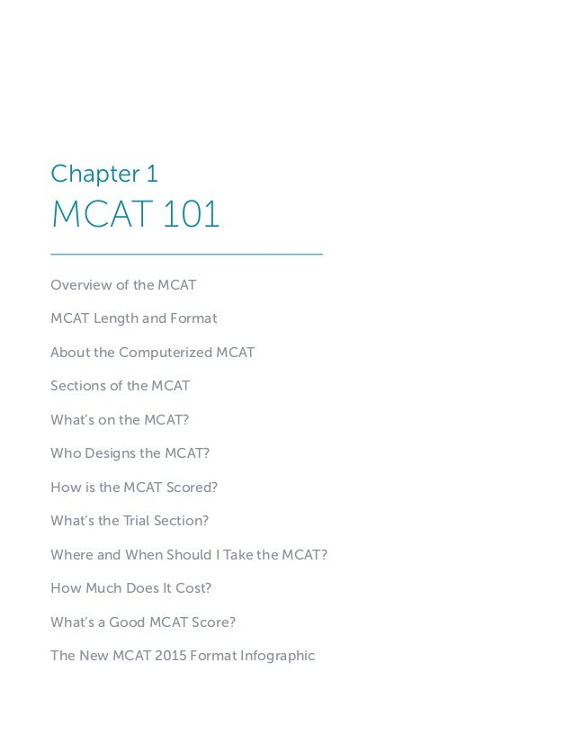 MCAT Playbook Excerpts