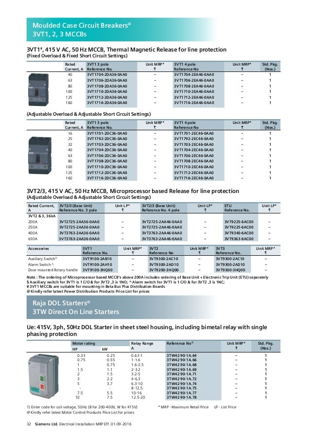 Mcb price list_electrical_installations_a_to_z_w.e.f_1st_sep_2016