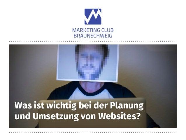 Was ist wichtig bei der Planung und Umsetzung von Websites?