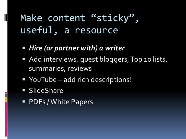 Search Engine Optimization Success with WordPress slideshare - 웹