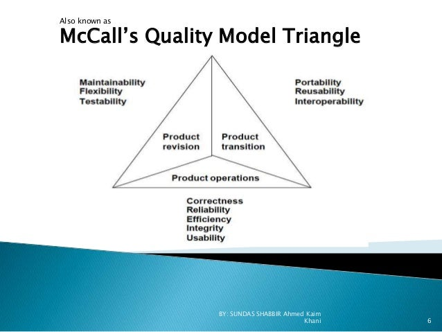 McCall Software Quality Model in Software Quality Assurance