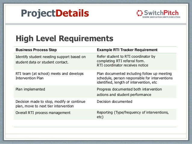 high level requirements template mccann internal learning management tool presentation