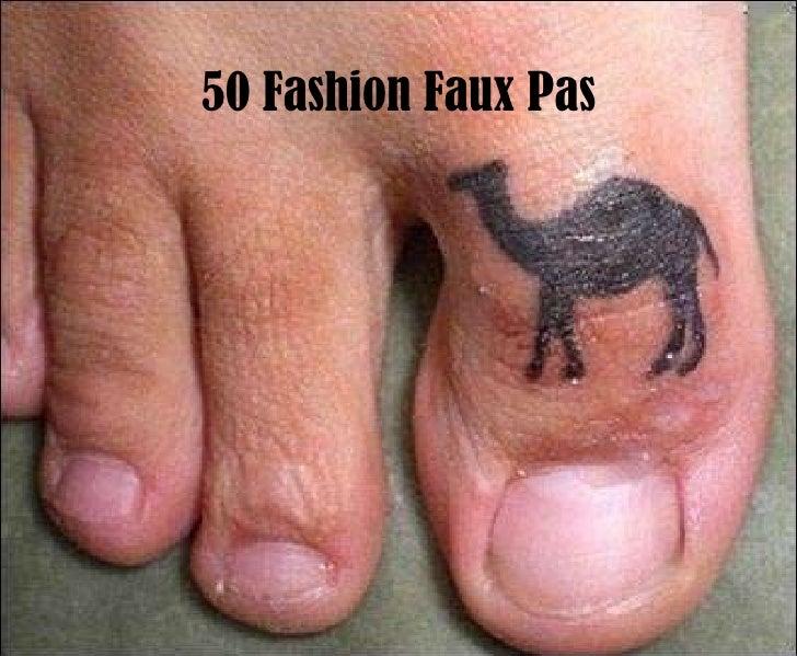 50 Fashion Faux Pas