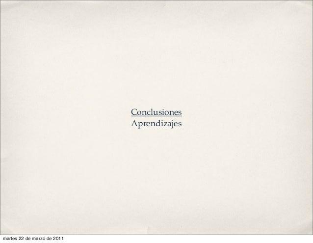 Conclusiones Aprendizajes martes 22 de marzo de 2011