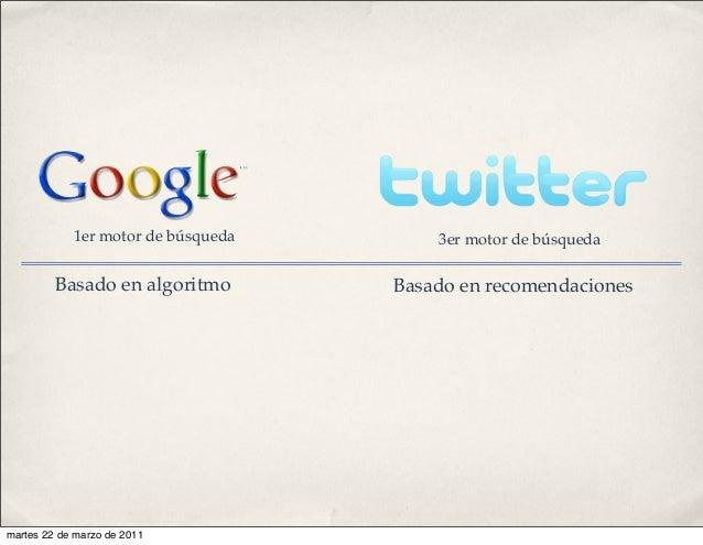 Basado en algoritmo Basado en recomendaciones 1er motor de búsqueda 3er motor de búsqueda martes 22 de marzo de 2011