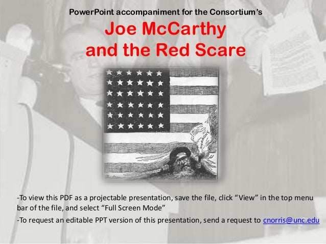 red scare research paper