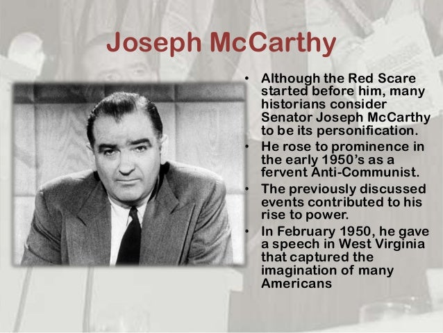 Anticommunism and McCarthyism Paper essay