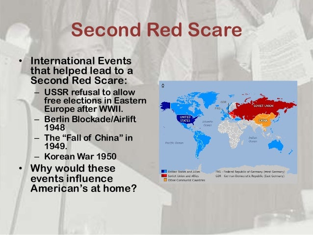 the second red scare What was the second red scare the second red scare, also known as mccarthyism, was a practice of accusation of subversion or treason without proper regard to evidence in the united stated during the cold war in 1950s.