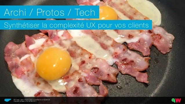 Archi / Protos / Tech Synthétiser la complexité UX pour vos clients Relax In The Air MC Casal - Archi / Protos / Tech : sy...