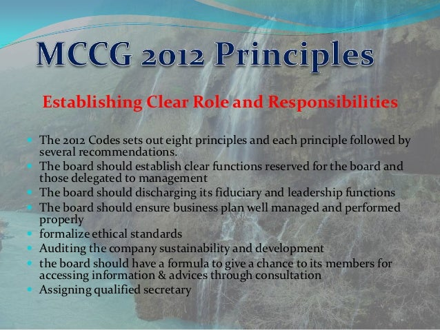 Malaysian code on corporate governance 2012