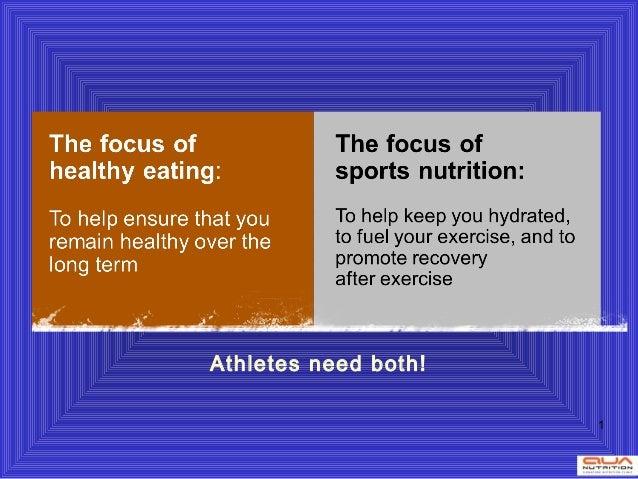 Athletes need both!                      1