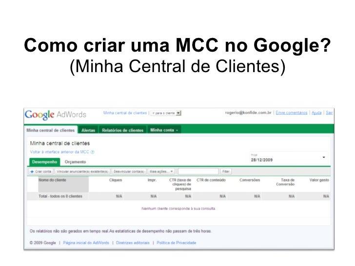 Como criar uma MCC no Google? (Minha Central de Clientes)