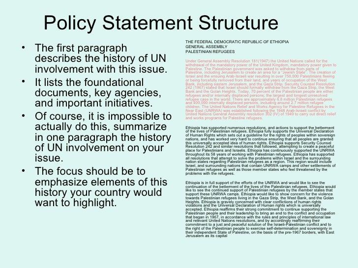 MUN Policy Aid