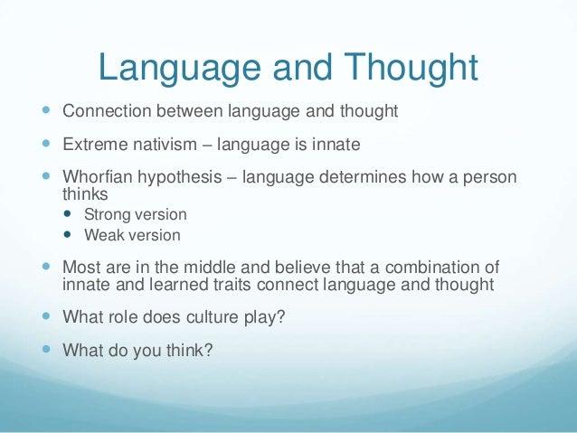 language inborn learnt
