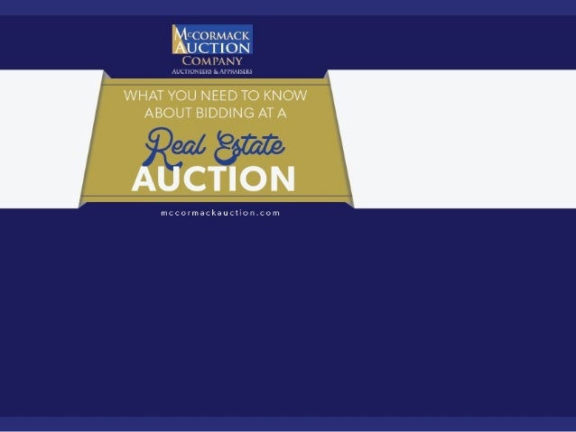 What You Need to Know about Bidding at a Real Estate Auction